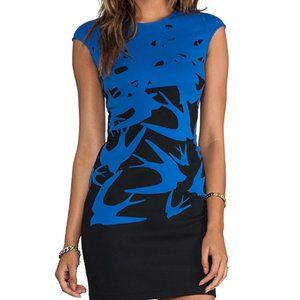 McQ Women's Cap Sleeve Swallow Dress in